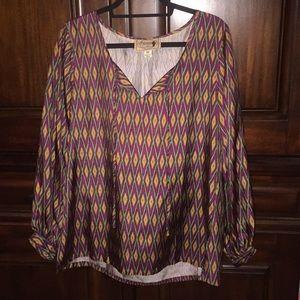 Tops - Silk long sleeve shirt